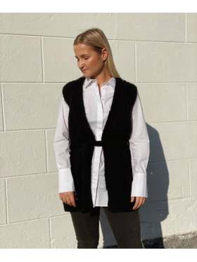 Second Female Sonia Knit Vest Sort
