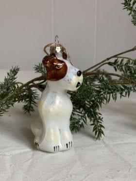 Shishi Julepynt Glass Terrier Brun Hvit