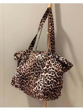 GANNI Recycled Tech Fabric Veske Leopard