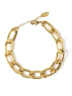 Orelia London Chunky Chain Armbånd Gull